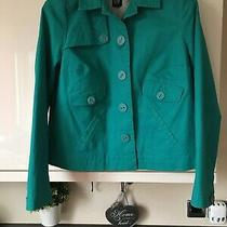 Womens Gap Mint Green Button Up Single Breasted Swing Coat Jacket M Medium Photo