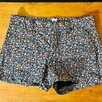 Womens Gap Navy Floral Shorts Size 4 3 Inseam Photo