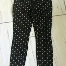 Womens Gap Skninny Ankle Black and Gold Pant Size 6 Photo