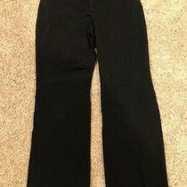Womens Gap Stretch Curvy Fit Flare Leg Black Pants - Size 10r Photo