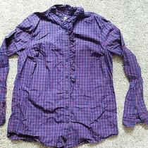 Womens Gap the Fitted Boyfriend Shirt Size L Photo