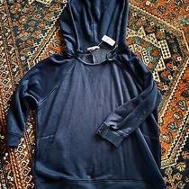 Womens Gap Vintage Soft 3/4 Sleeve Navy Blue Hoodie Sweatshirt Xl Nwt Photo