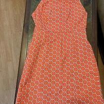 Womens Gap White and Orange Geometric Dress Size 2 Photo
