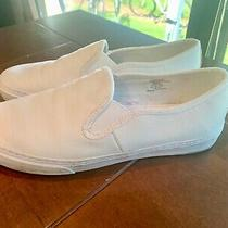 Womens Gap White Solid Leather Slip on Flat Shoe Sneaker Size 10 Photo