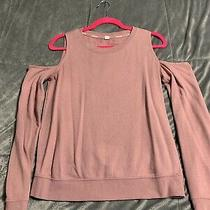 Womens Garage Blush Cold Shoulder Sweatshirt Size M Photo