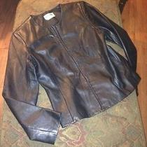 Womens Genuine Black Leather Jacket Size Medium Authentic by Bagatelle High End Photo