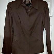 Womens Genuine Giorgio Armani Blazer Jacket Coffee Brown Made in Italy Sz 40 Photo