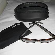 Womens Giorgio Armani Sunglasses Style 599-S O63 135 Tortoise Shell With Case Photo