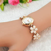 Womens Girls Chic Fashion Daisies Flower Rose Gold Bracelet Wrist Watch New  Dr Photo