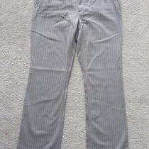 Womens Girls Express Chino Lt Grey Striped Casual Jeans Pants Size 6 Photo