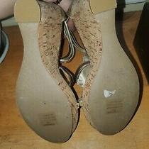 Womens Gold Steve Madden Cork Wedge Size 7.5 Photo