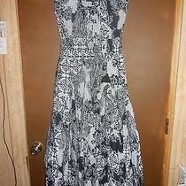 Womens Grace Elements Black & White Beautiful Flowing Dress Size Medium M Photo