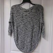 Womens Gray & Black Sweater /top Size Xs-L by Express Photo