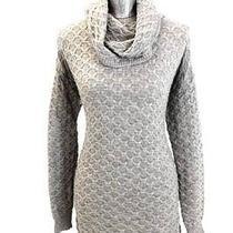 Womens Gray H & M Sweater Dress Modern Cowl Neck L/s Modern Soft Knit Medium Photo
