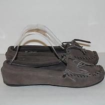 Womens Gray Minnetonka Moccasins Shoe Size 8.5 Photo