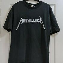 Womens Grey White Metallica World Magnetic 2010 Tour Band Top Size Xs h&m Used Photo