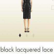 Womens Gucci Black Lacquered Lace Shift Dress 2900 38 4 Authentic Photo