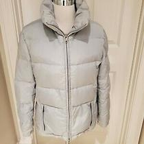Womens Guess Blueish Gray Down Filled Coat Size Small New Without Tags 180 Photo