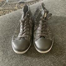Womens Guess Hightop Sequin Sneakers Size 11  Photo