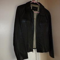 Womens Guess Leather Coat Photo