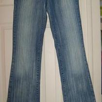 Womens Guess Light Striped Low Rise Stretch Blue Denim Jeans Size 28 X 32 Photo