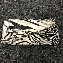Womens Guess Zebra Print Clutch Photo
