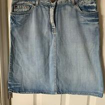 Womens h&m Blue Wash Denim Pencil Skirt Size 8 Eu 36. in Excellent Condition Photo