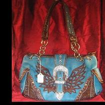 Womens Handbags Turquoise / With Rhinestones /available in Other Colors  Photo