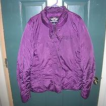 Womens Harley Davidson Down Coat Purple - Like New Condition Xxl  Photo