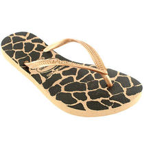 Womens Havaianas Slim Animals Beach Flip Flops Summer Slip on Sandals All Sizes Photo