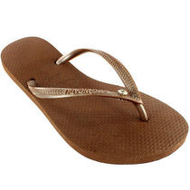 Womens Havaianas Slim Crystal Glamour Sw Flip Flops Summer Sandal New All Sizes Photo