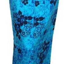 Womens Hawaiian Design Sarong Wrap in Aqua Photo