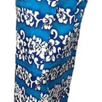 Womens Hawaiian Flowers Sarong Wrap in Aqua Blue Photo