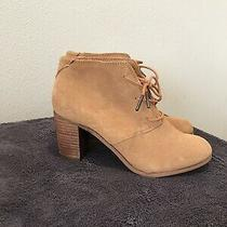 Womens Heeled Toms Lace Up Booties Size 7.5  Photo