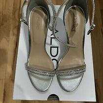 Womens Heels Silver Rinestone Size 7 Aldo Photo