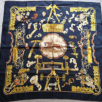 Womens Hermes Paris Pure Silk Handrolled Scarf Wrap  100% Authentic  Photo