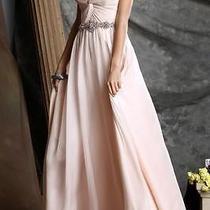 Womens High End Dress Long Blush Pink Size 16 383-856 Photo