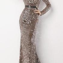 Womens High End Dress Long Shimmery Blush Size 0 383-338-Silk Photo