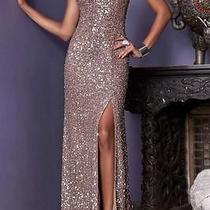 Womens High End Dress Long Shimmery Blush Size 8 383-306-Silk Photo