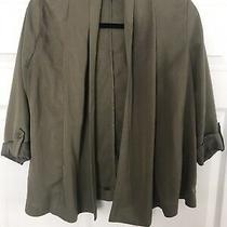 Womens Hm Olive Green Jacket Blazer Size M Photo