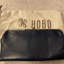 Womens Hobo Leather Double Frame Clutch Wallet Lauren Sapphire Photo