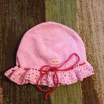 Womens Hurley Knitted Hat Pink Knit Photo