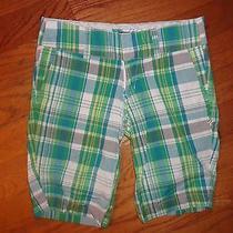 Womens Hurley Plaid Shorts Size 1 Euc Photo
