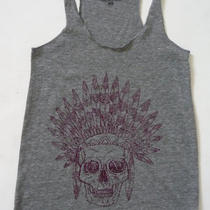 Womens Indian Skull Yoga Triblend Gray Tank Top Alternative Apparel S M L Xl Photo