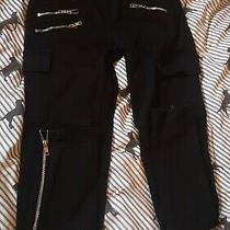 Womens J Brand Black Zipper Jeans G Condition Size 8  26/30 Photo