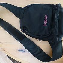 Womens Jansport Backpack Black Pink One Shoulder Sling Hiking Bookbag Girls Photo