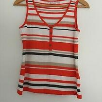 Womens Jasper Conran Stripey Vest Top Size 10 Excellent Condition Photo