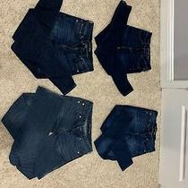 Womens Jeans American Eagle and Express Dark Blue Size 00-2 Photo