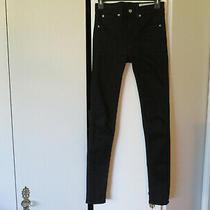 Womens Jeans Rag & Bone High Rise Skinny  Black Wash 26 Euc Photo