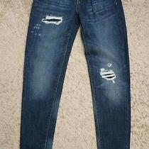 (( Womens Jeans Size 0 / 25 -- Mossimo Boyfriend Cotton Blue Skinny Slim  Photo